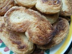 palmiers, pâte feuilletée