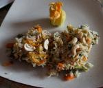 courgette farcie,riz basmati,vaghar,cannelle,anis étoilé,herbes aromatiques,carotte